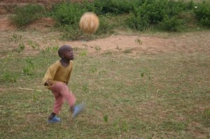Boy Heading Ball